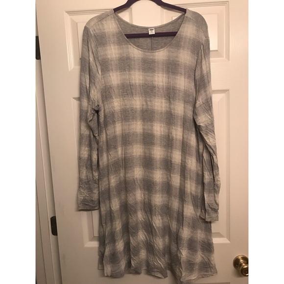 788ec95b21478 Old Navy Dresses | Plaid Swing Dress | Poshmark